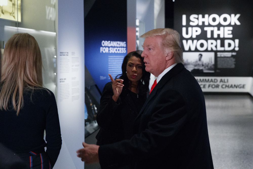 President Trump tours the National Museum of African American History and Culture Tuesday in Washington.