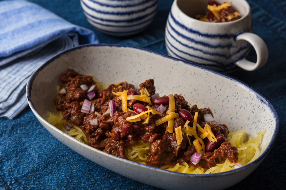 This take on the Midwestern chili still has the chunky-thick texture you expect.