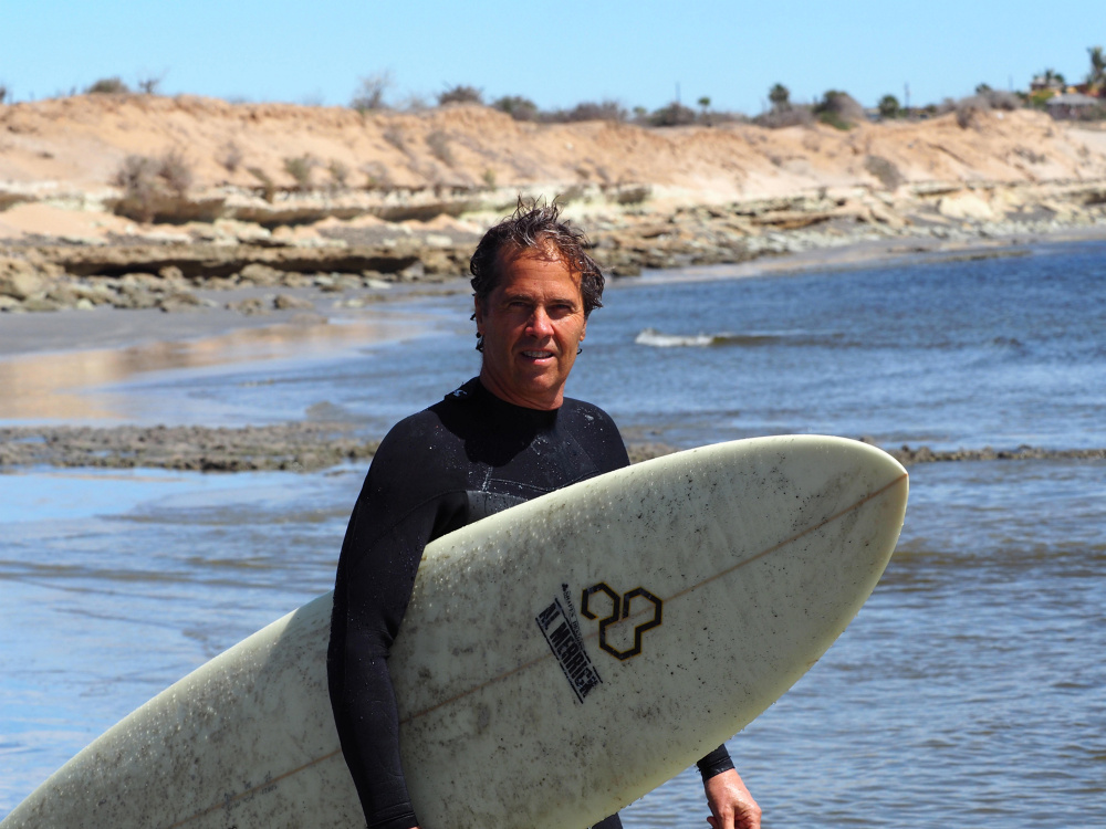 Jonathan White has spent most of his life on the water, either sailing or surfing.