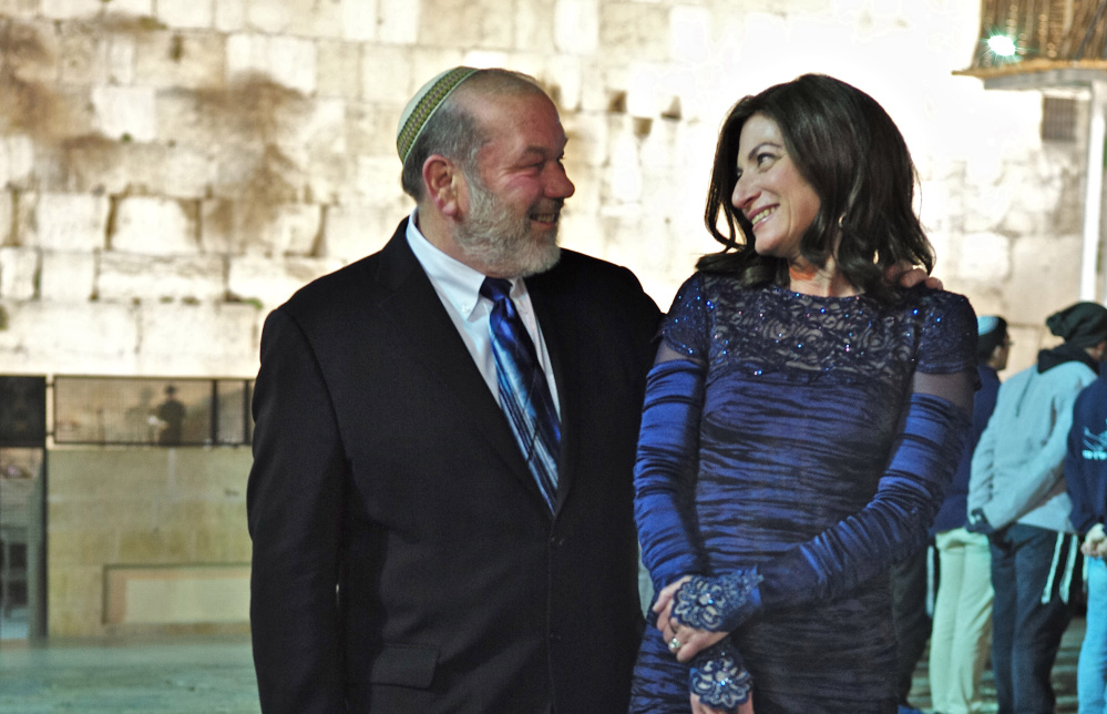 Gary Berenson and Sindee Gozansky are married in a traditional Jewish ceremony on Tuesday night in Jerusalem's Old City. After dating more than seven years the pair decided to tie the knot on a trip to Israel.