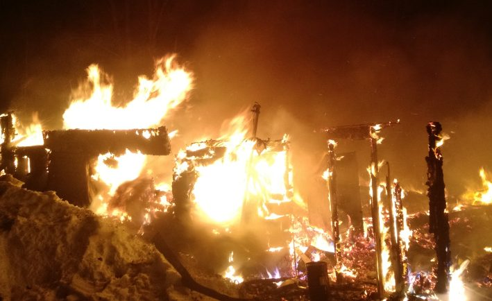 A house is destroyed by fire early Friday morning on Springer Road in St. Albans.
