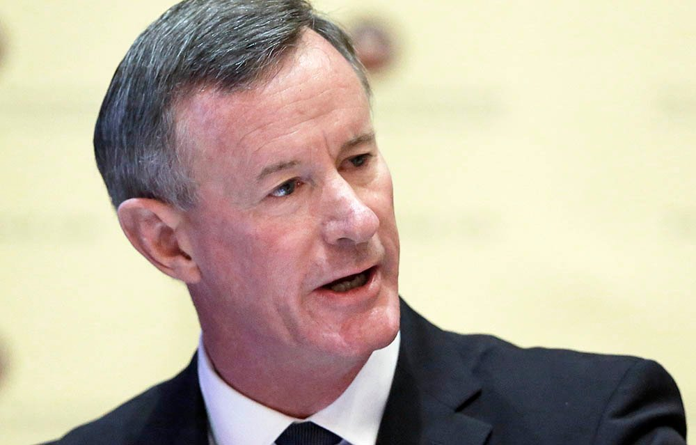 "Retired Navy Adm. William McRaven addresses the Texas Board of Regents  in Austin, Texas, in 2014. ""As a leader you have to communicate your intent every chance you get and if you fail to do that, you will pay the consequences,"" he says."