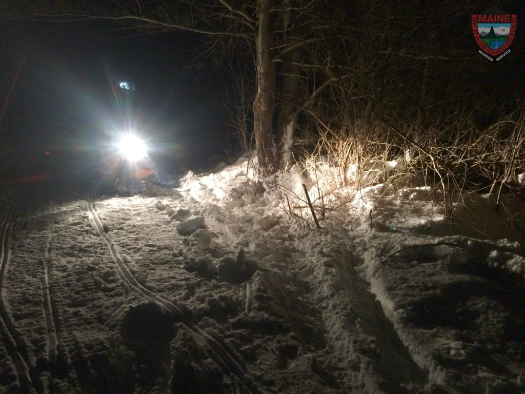 Jack McKay III died after his snowmobile hit a tree on this trail in Newport on Saturday.