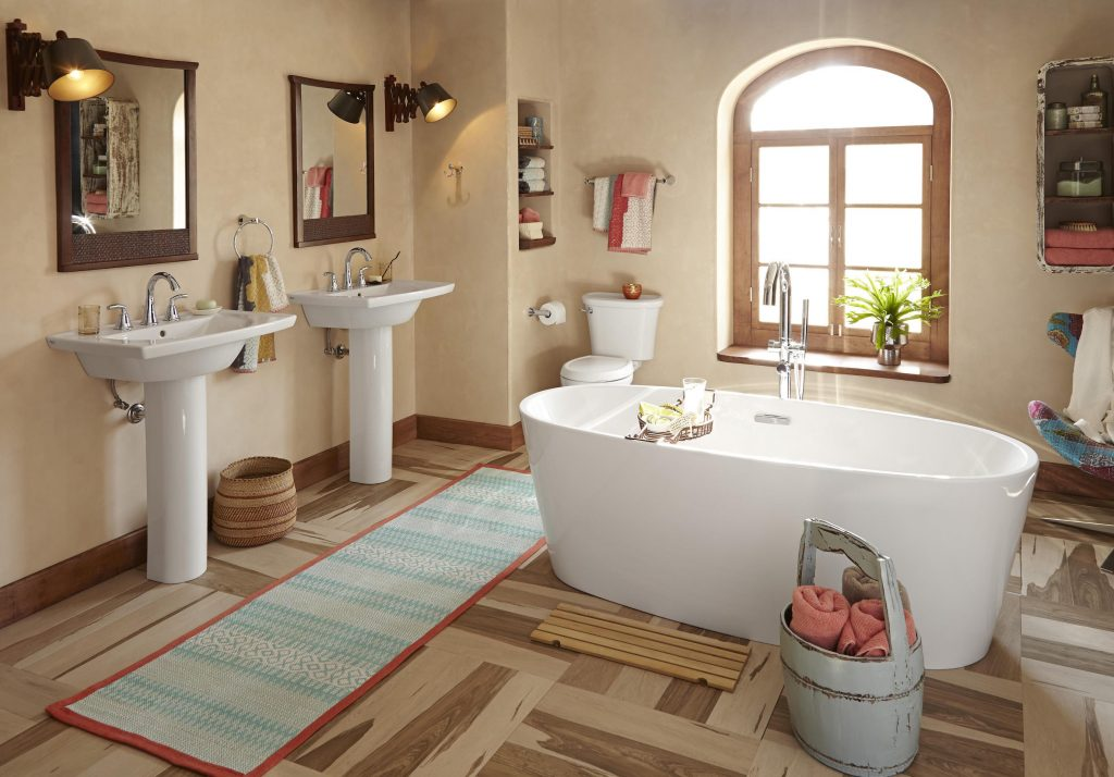 The beauty of a spa bath begins with a focal point - Portland Press ...