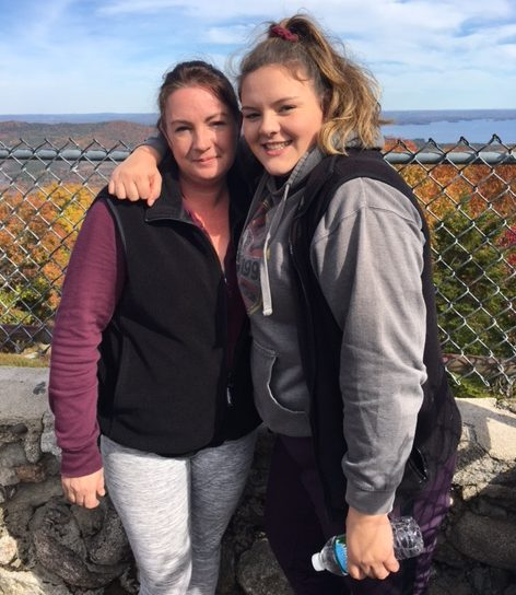 Rebecca Perry, left, was killed in a Dec. 1 crash in Windham, and her daughter Gretchen, right, was seriously injured.