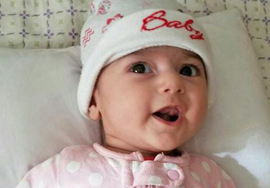An undated photo of  Fatemeh Reshad, an infant from Iran with a life-threatening heart condition, who will be treated at OHSU Doernbecher Children's Hospital in Portland, Ore.
