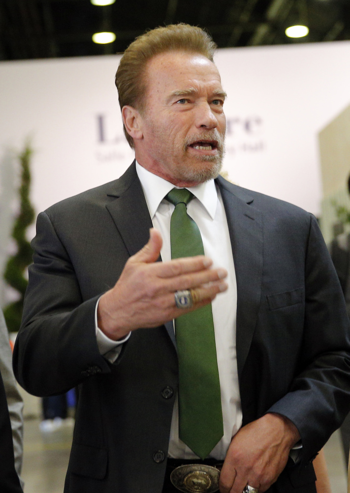 "Arnold Schwarzenegger says he is bowing out of ""Celebrity Apprentice."""