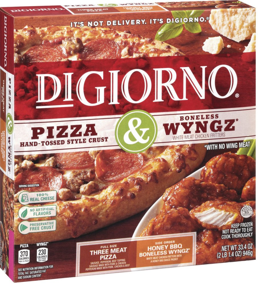 "DiGiorno owner Nestle said it initially wanted to call the boneless chicken pieces ""wings,"" since it believes people understand that ""boneless wings"" are not whole wings. The company says the USDA instead proposed ""wyngz."""