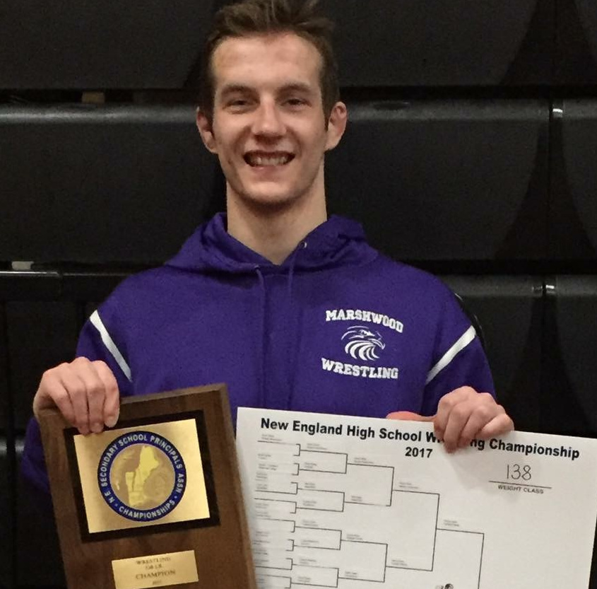 Bradley Beaulieu of Marshwood won four state titles and has a 243-14 record in his career. He added a New England title to his resume on Saturday.