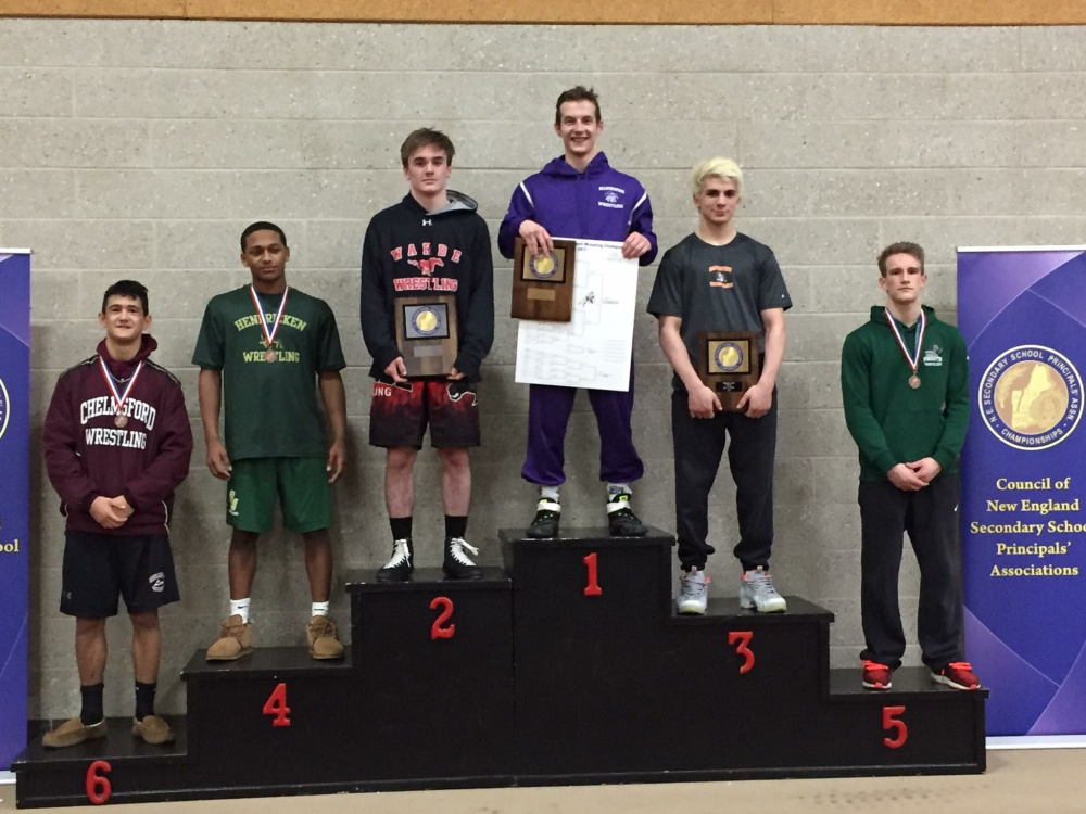 Marshwood senior Bradley Beaulieu capped his stellar high school career by standing atop the podium at the New England championships on Saturday after winning the 138-pound class.