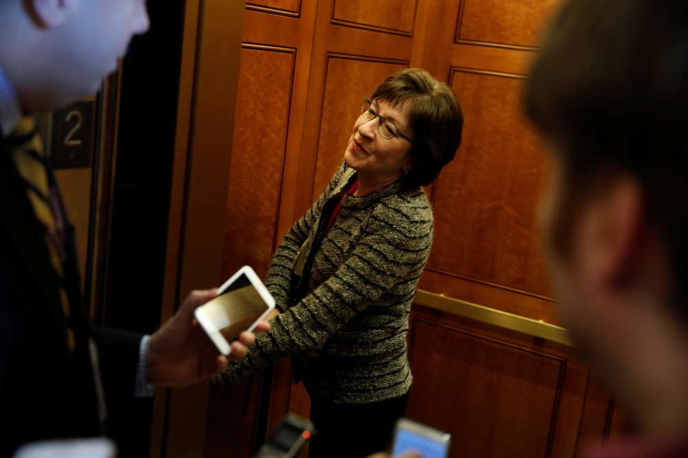 Susan Collins of Maine is on the Senate Intelligence Committee, which helps oversee the nation's clandestine agencies. She plans to review files on Russian meddling Monday.