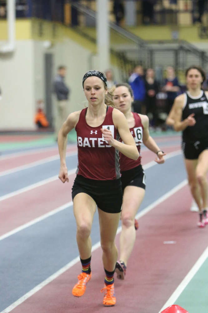 Bates senior Jessica Wilson will compete at 3,000 meters in the NCAA Division III indoor track and field national championships. Photo by Tom Leonard