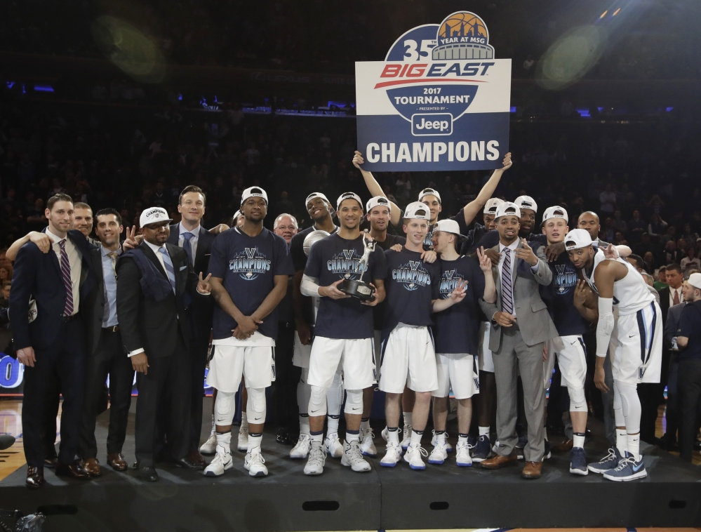 Villanova won the Big East tournament on Saturday and on Sunday was named the No. 1 overall seed in the NCAA tournament.