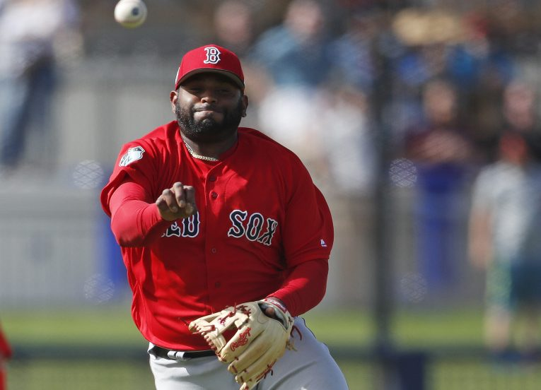 Boston third baseman Pablo Sandoval, with more than two years left on his contract, was kept out of the lineup for two straight nights against the Tigers as he worked on infield defense.