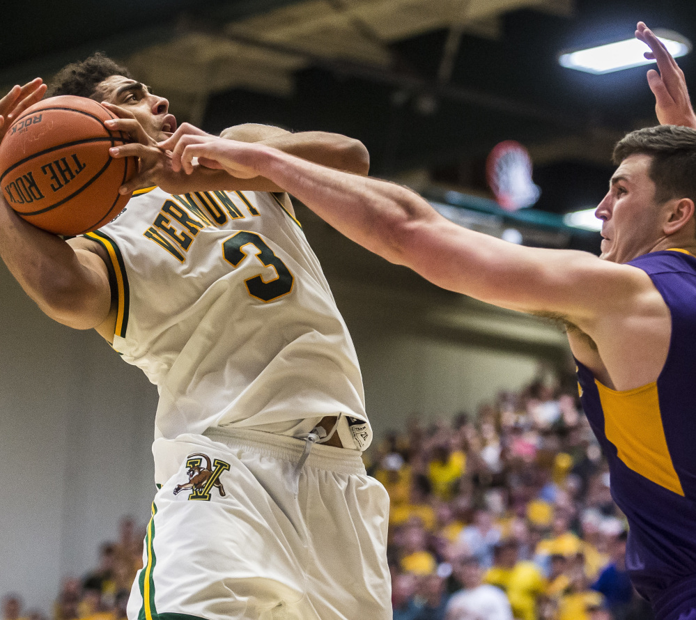 Anthony Lamb, left, averages 12.6 points per game for a balanced Vermont offense. The Catamounts enter the NCAA tournament as a 13 seed.