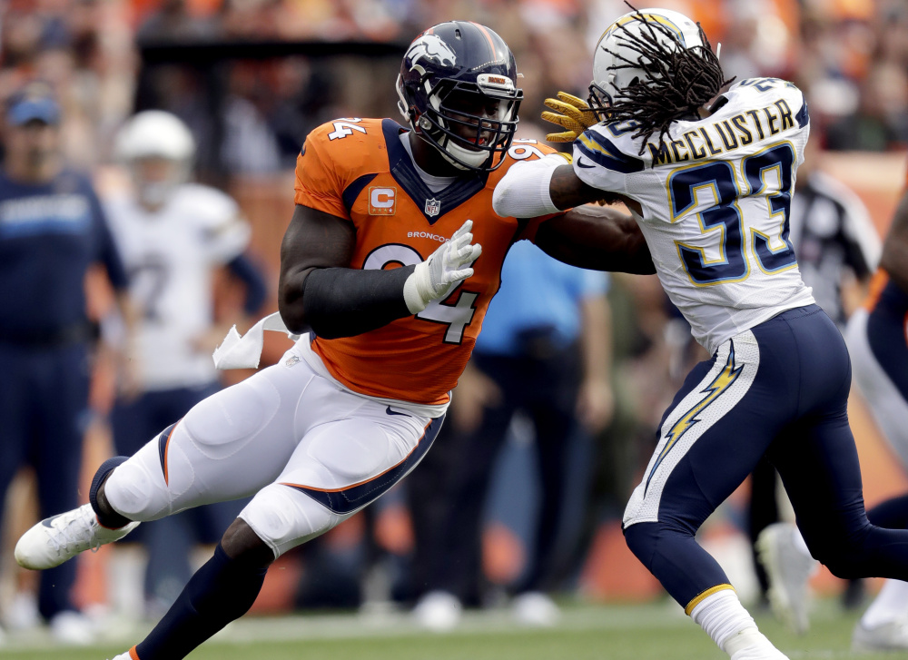 DeMarcus Ware, who played the last three seasons with the Denver Broncos, announced his retirement Monday on Twitter. Ware, with 138 sacks, is eighth all-time in NFL history.