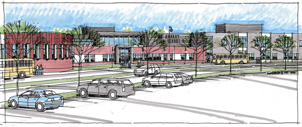 The new Mt. Ararat High School will be 140,000 square feet, built on land that now holds the school's baseball and football fields.