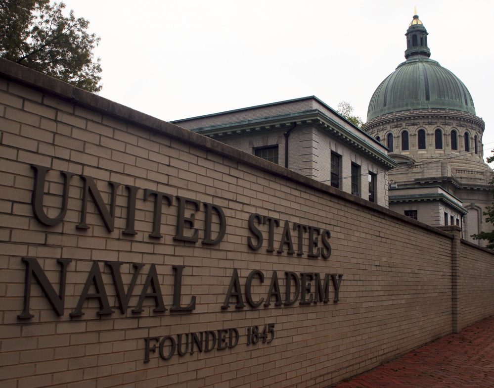 Though reports of sexual assaults at the three U.S. military academies dropped overall, they rose at the U.S. Naval Academy in Annapolis, Md., and at the U.S. Military Academy in West Point, N.Y.