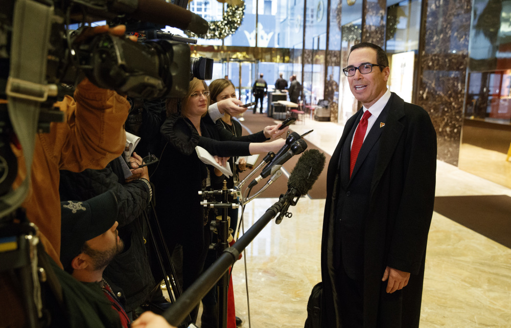 U.S. Treasury Secretary Steven Mnuchin will get a chance to clarify the U.S. position on free trade in the Trump era at a G-20 meeting of top finance officials. Trump has pledged to slap tariffs on imports and declared that the U.S. needs a tougher approach to trade.