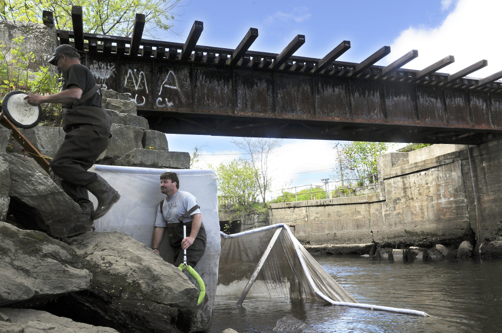 President Trump's proposed cuts to the Environmental Protection Agency call for a 30 percent reduction in state grants for water-pollution control. The plan would hinder efforts by communities that use grant funding to identify contaminants in bodies of water such as Cobbosseecontee Stream, above, in Gardiner.