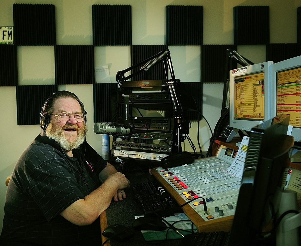 Central Maine radio personality Don Brown in 2011. He died Thursday at age 77.