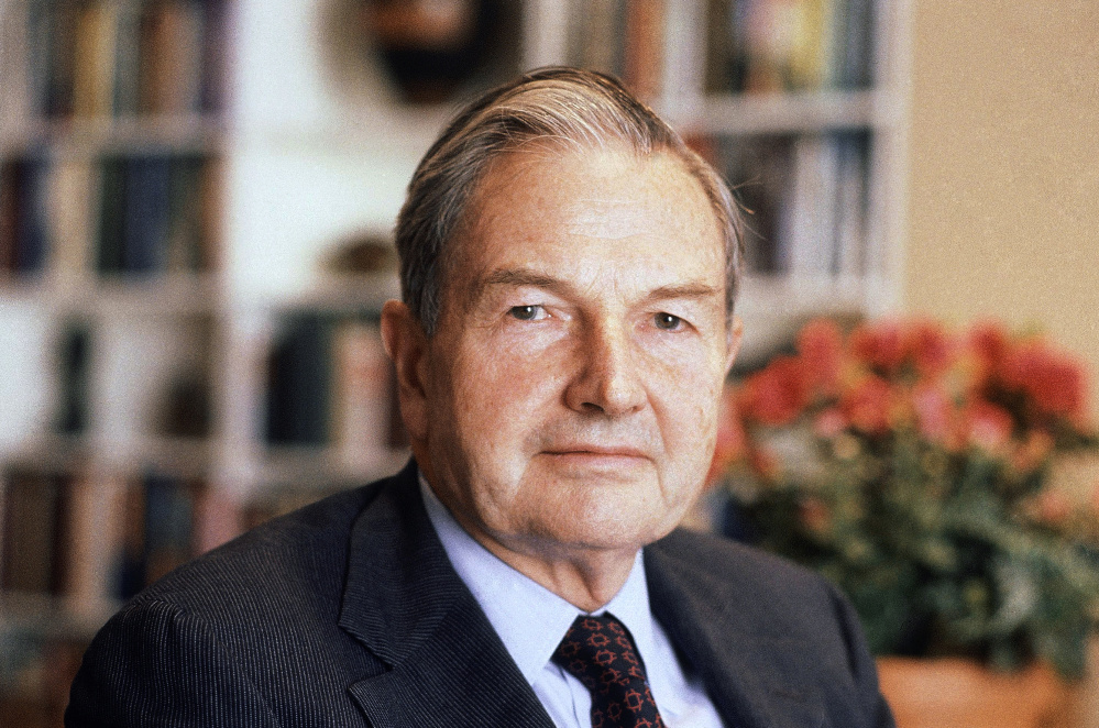 Billionaire philanthropist David Rockefeller was the grandson of Standard Oil co-founder John D. Rockefeller.
