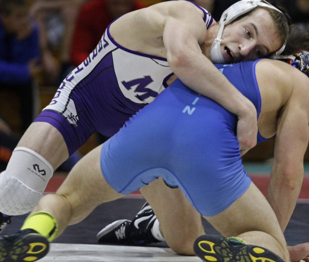 Bradley Beaulieu, the winningest wrestler in Maine history, became a four-time state champion while helping Marshwood regain the Class A team title, then captured his first New England championship.