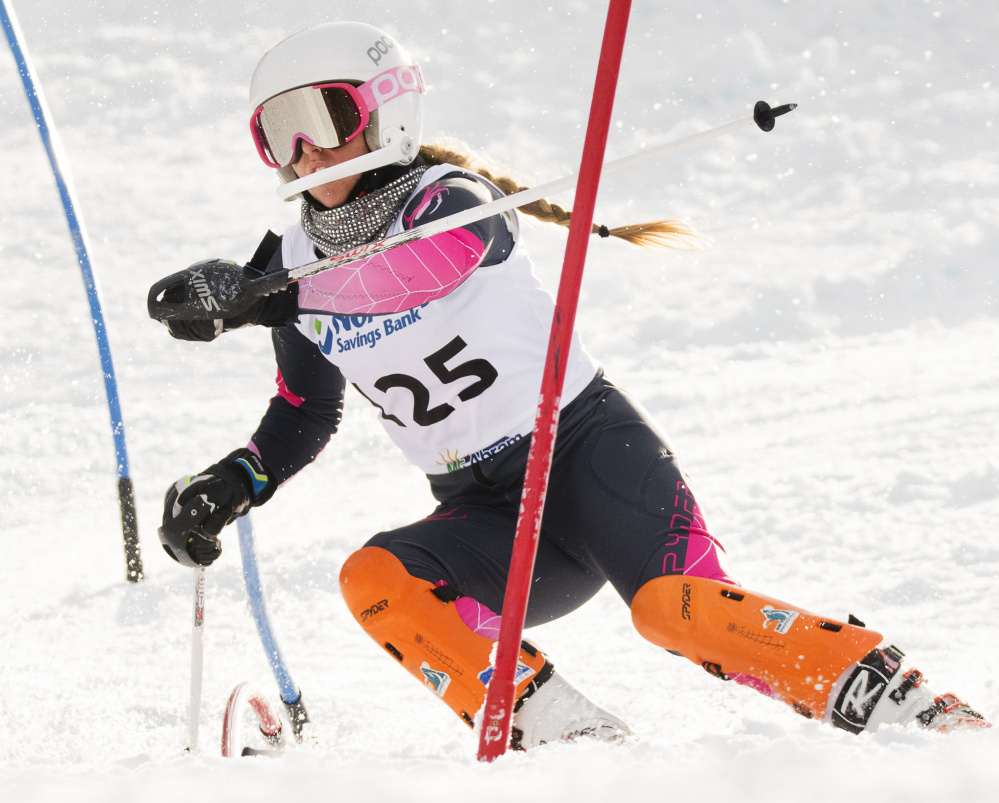 Annesley Black of Cheverus, the Maine Sunday Telegram's Girls' Skier of the Year, won the slalom and giant slalom in the Class A state meet at Mt. Abram, after also sweeping the events at the SMAA championships. Black also plays soccer and lacrosse.
