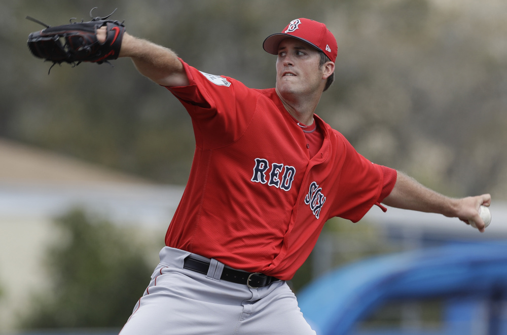 Red Sox pitcher Drew Pomeranz allowed three runs in four innings against the Blue Jays on Friday, but said his mechanics felt better after the second.