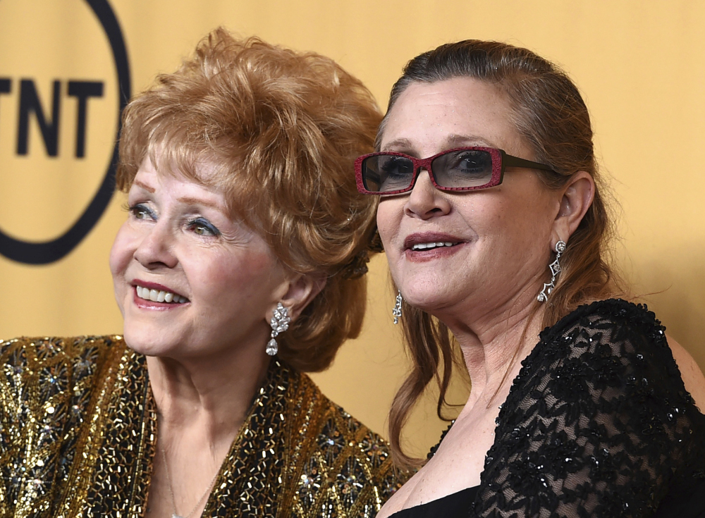 Debbie Reynolds and Carrie Fisher appear at the 21st Screen Actors Guild Awards.