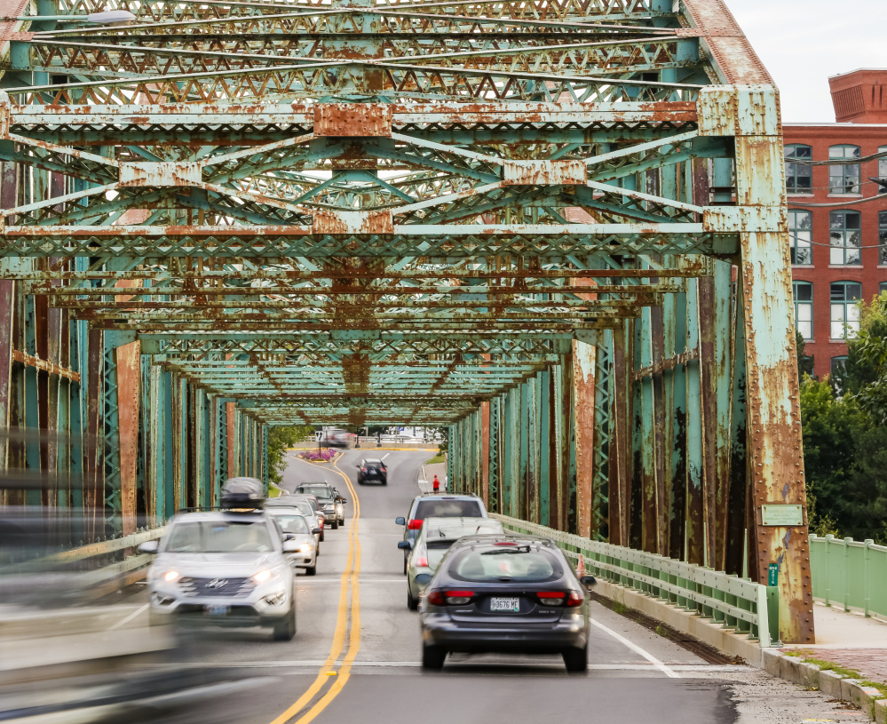 Northbound traffic on the Frank J. Wood bridge between Brunswick and Topsham will be detoured this week as crews repair the 85-year-old bridge. The northbound lane will be closed Wednesday and is to reopen April 24. Crews from Stetson and Watson of Holden will replace floor beams on the bridge and work on other preservation measures as part of $805,000 in repairs planned, according to the Maine Department of Transportation. The Maine DOT has proposed four construction options, including two replacement and two rehabilitation projects, costing between $13 million and $17 million. A local group, Friends of the Frank J. Wood Bridge, wants to preserve the historic structure.