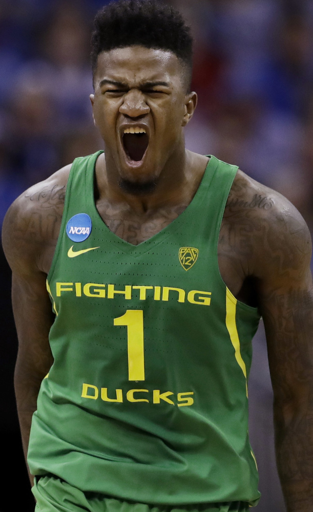 Jordan Bell and Oregon hope to do more celebrating after earning a trip to the Final Four on Saturday.