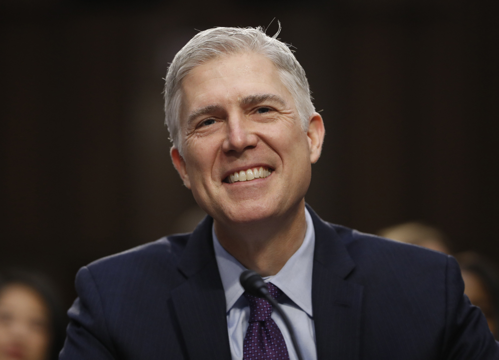 Neil Gorsuch, now Supreme Court justice.