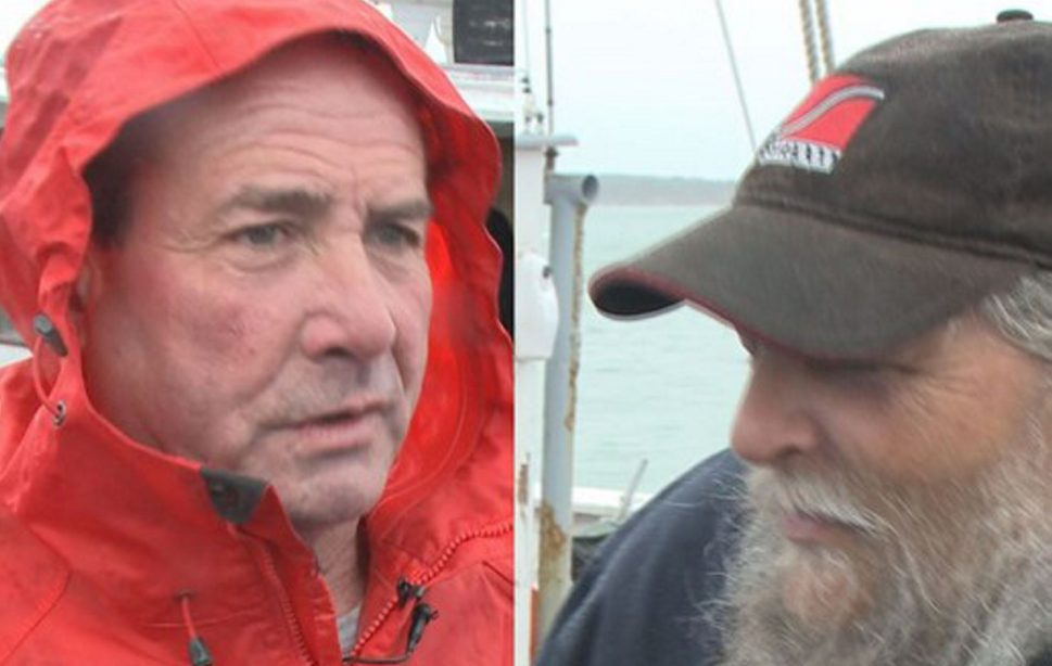 Brian Rockett, left, who owns a lobster-buying business in Owls Head, and Eric Wass, who owns a roofing company in Rockland, are seeking exemptions to the opioid dosage law.