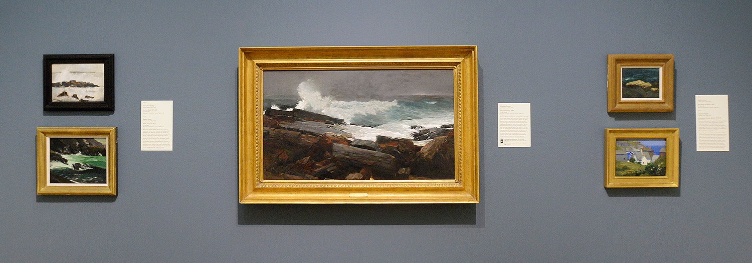 Winslow Homeru0027s u201cWeatherbeatenu201d his view of rocks and surf outside his Prouts Neck Studio dominates a temporary wall in Gallery 208. & 12 must-sees at the revamped Portland Museum of Art - Portland Press ...