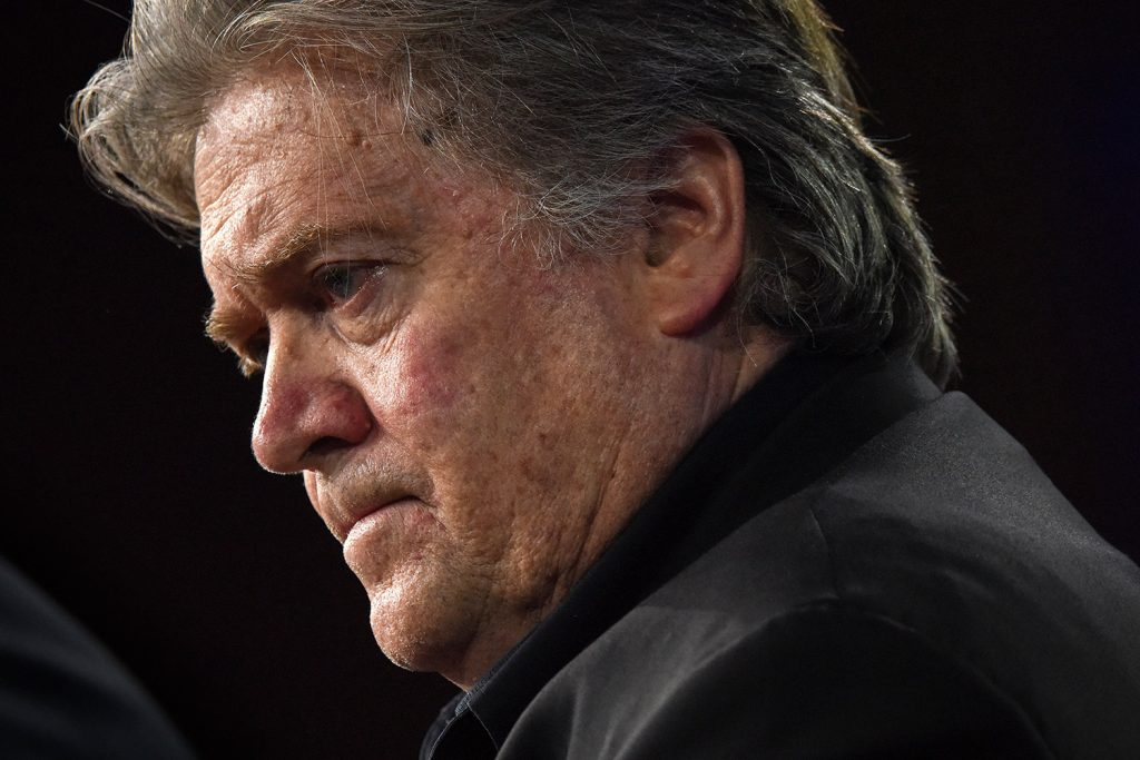 Stephen Bannon at the Conservative Political Action Conference on Feb. 23.