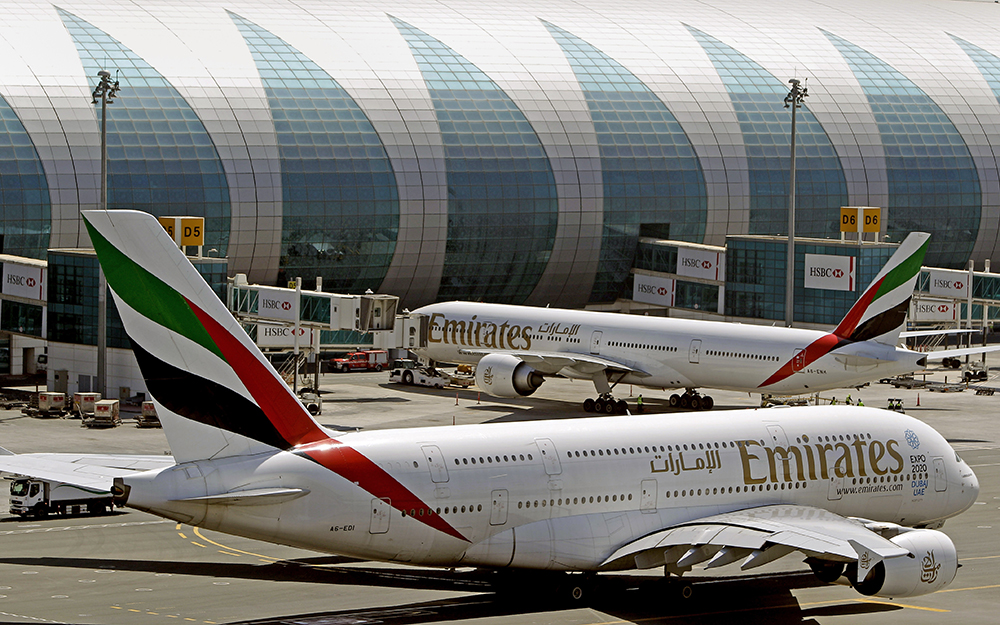 Passengers boarding U.S.-bound Emirates flights from Dubai are among those who will be barred from carrying most electronic devices other than cellphones.
