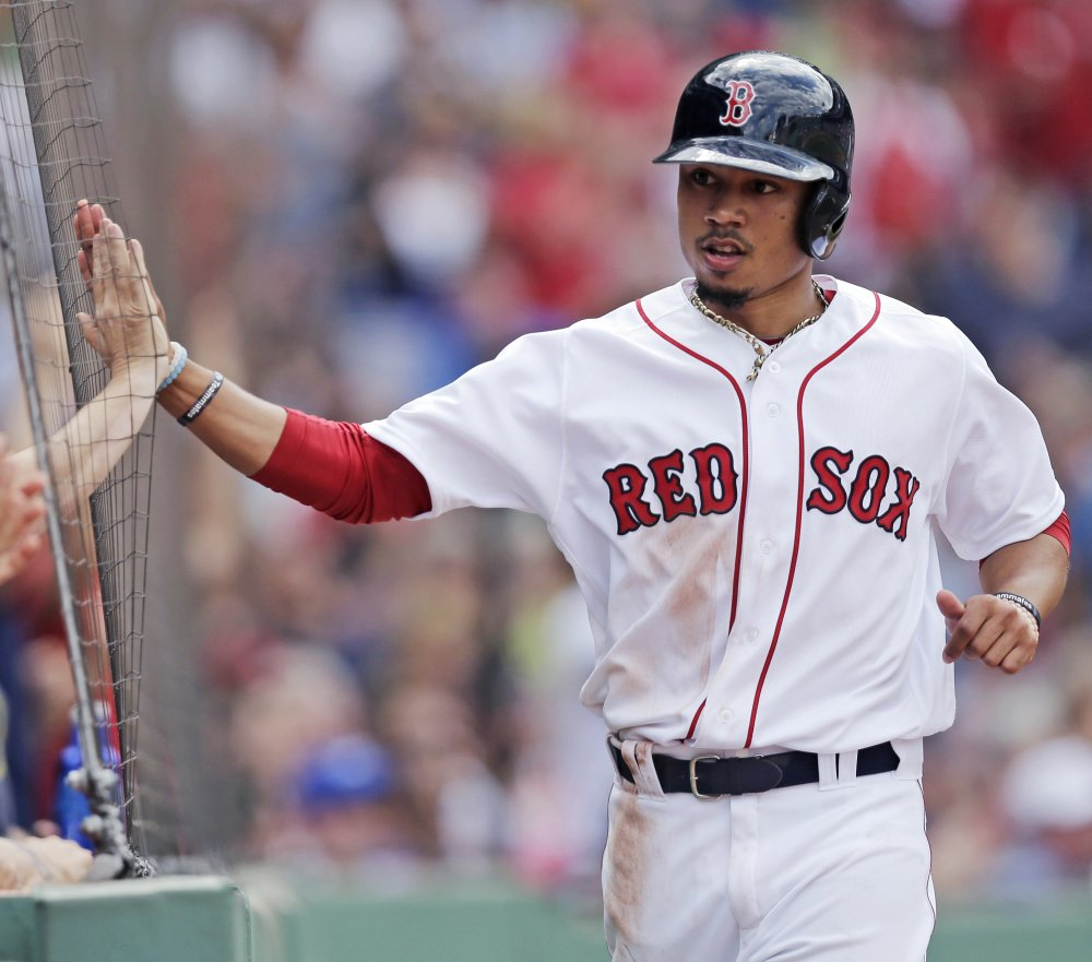 Red Sox outfielder Mookie Betts will bat ninth for the American League.