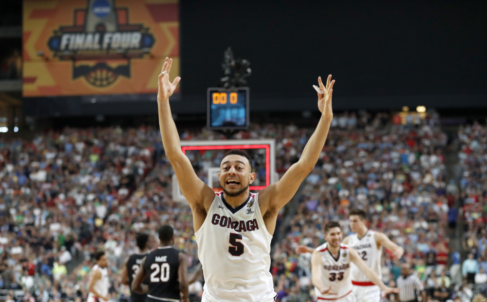 Gonzaga's Nigel Williams-Goss is the West Coast Conference player of the year and has led the Bulldogs to their first national championship game. He scored 23 points and grabbed five rebounds in Gonzaga's win over South Carolina in the Final Four.