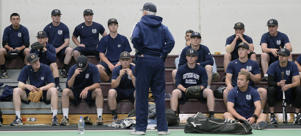 Ed Flaherty is back for a 32nd year as baseball coach at the University of Southern Maine. His team went 7-4 in 11 games in Florida, but has lost three straight since returning to New England. The Huskies' home opener Wednesday against Bowdoin has been moved to Colby College.