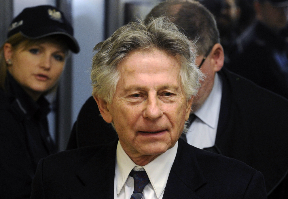 Filmmaker Roman Polanski is shown at a 2015 extradition hearing on his case involving sex with a 13-year-old girl.