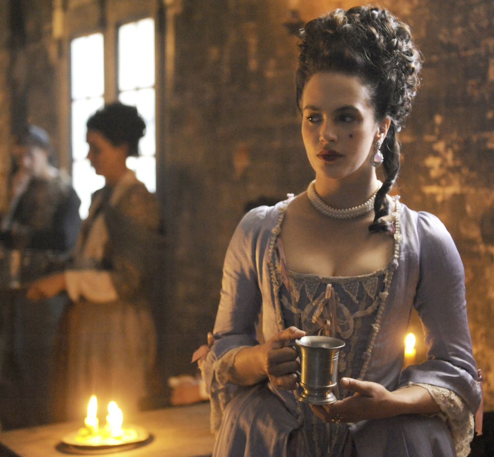 "Actress Jessica Brown Findlay portrays Charlotte Wells, an 18th-century prostitute in Hulu's drama series ""Harlots."""
