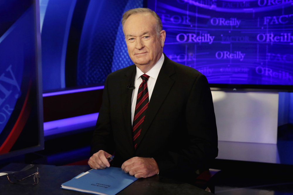 "Bill O'Reilly, seen on the set of ""The O'Reilly Factor"" in 2015, averaged 3.71 million viewers over five nights last week, the Nielsen company said. That's up 12 percent from the week before and up 28 percent from the same week in 2016."