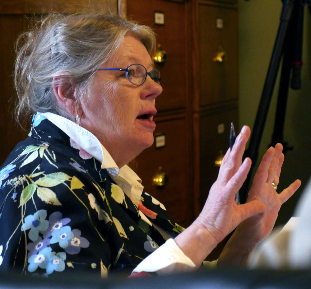 Chair of Vermont's state Senate Committee on Government Operations Sen. Jeanette White questions Department of Motor Vehicles officials Tuesday, in Montpelier, Vt.