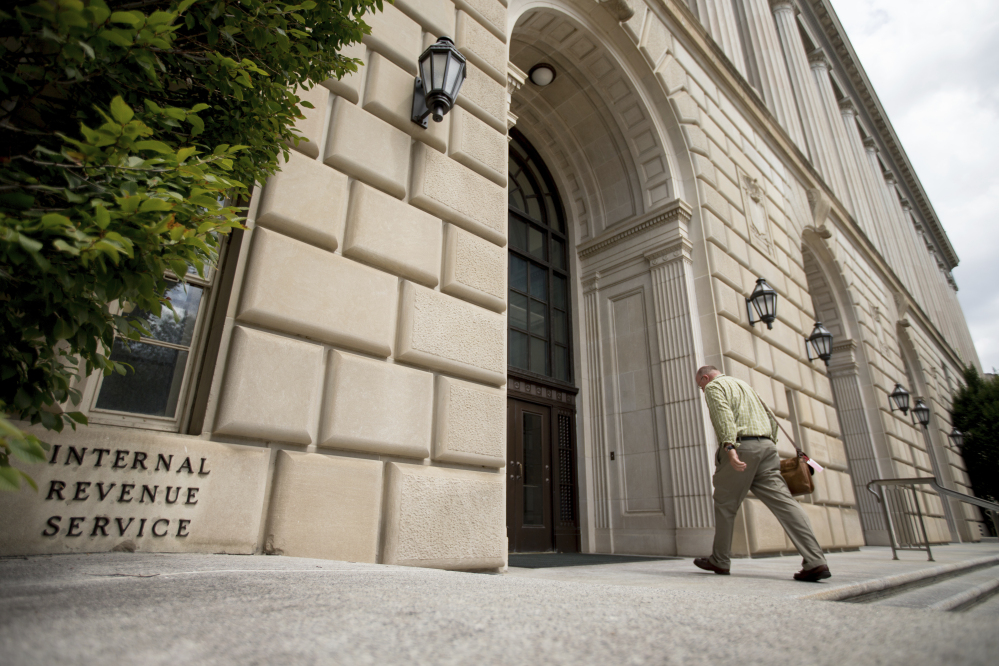 The Internal Revenue Service says federal tax returns must be filed by Tuesday, April 18, this year.