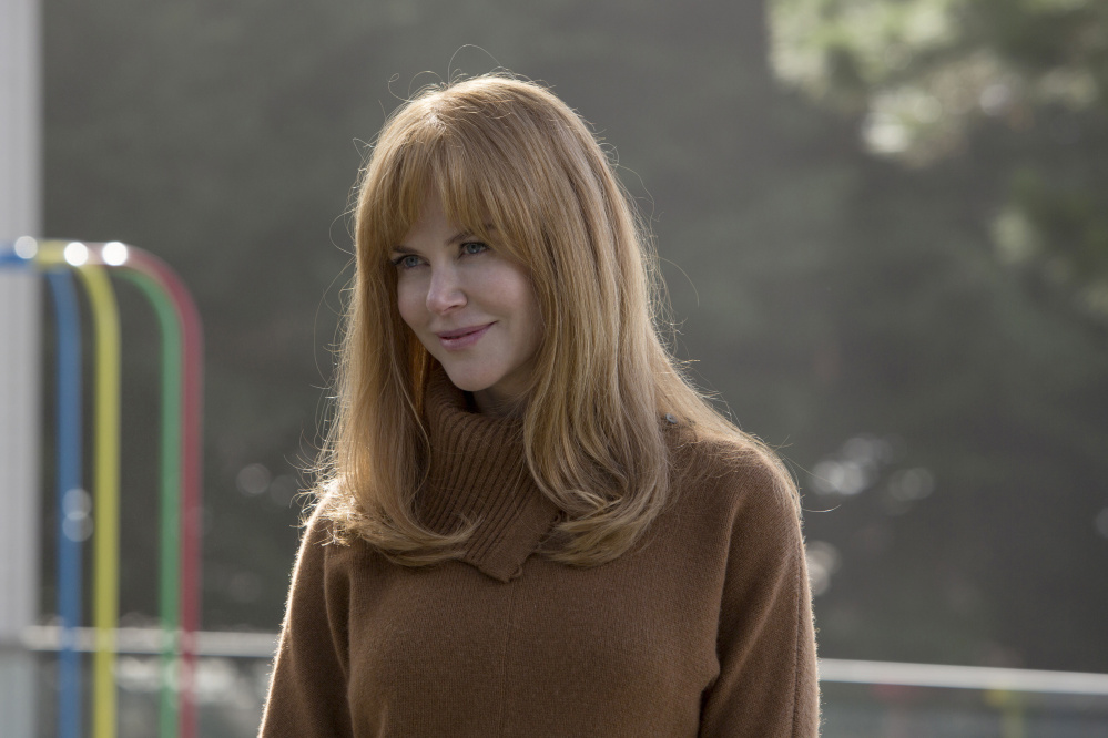 "Nicole Kidman plays the abused wife of a prosperous executive in HBO's ""Big Little Lies."""