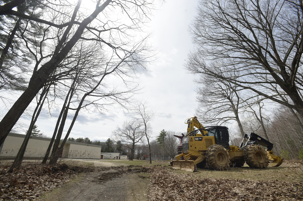 Logging will take place to make way for the new Hall Elementary School entrance in Portland.