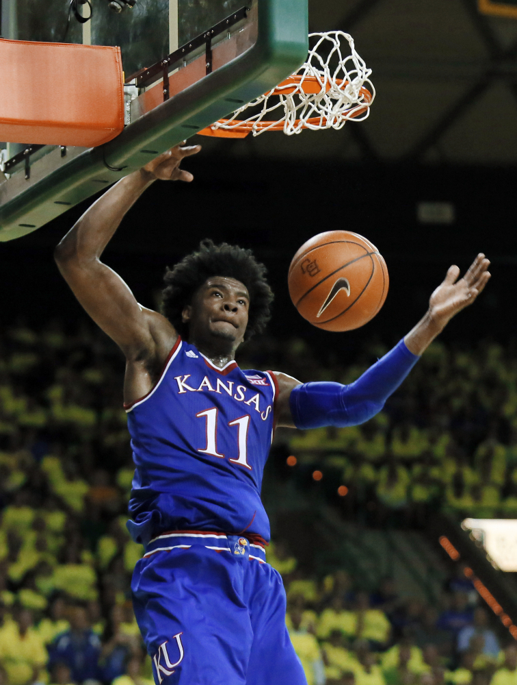 Kansas freshman Josh Jackson has announced he will enter the NBA draft. Jackson was the Big 12 Newcomer of the Year after averaging 16.3 points and 7.4 rebounds per game.