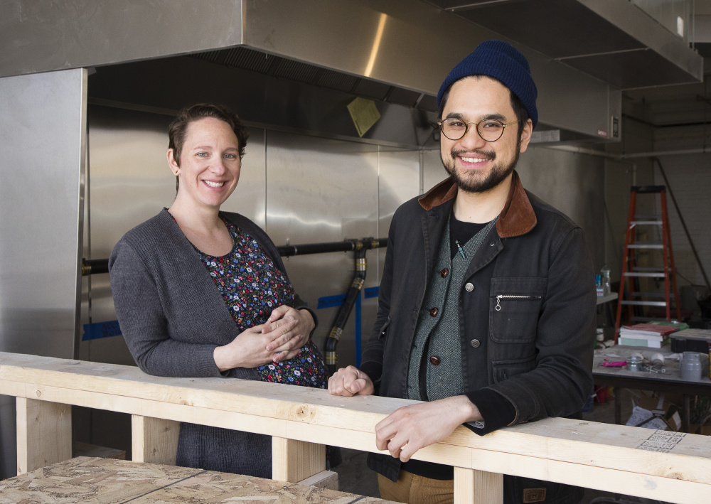 Chef Vien Dobui, of Cong Tu Bot in Portland, pictured here with his wife and partner Jessica Sheahan, has been named a finalist for a 2020 James Beard Foundation Award.