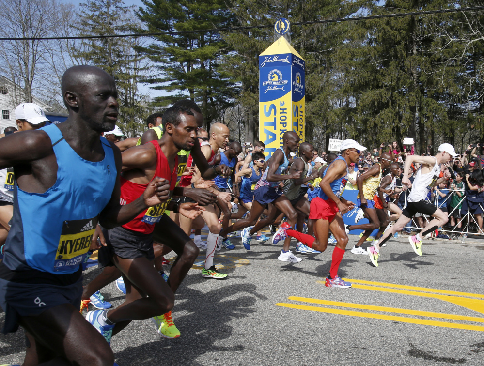 A weekend that included the Celtics and Bruins in the playoffs, and the Red Sox early in their season, also included the Boston Marathon. Quite a time for Boston sports fans.